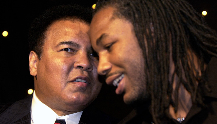 Friend and mentor - Mohammed Ali and Lennox Lewis